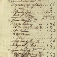 Robert Townsend Account Book, Page 68 (front)