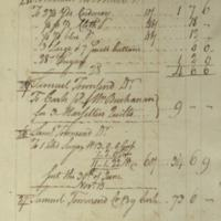 Robert Townsend Account Book, Page 71 (front)